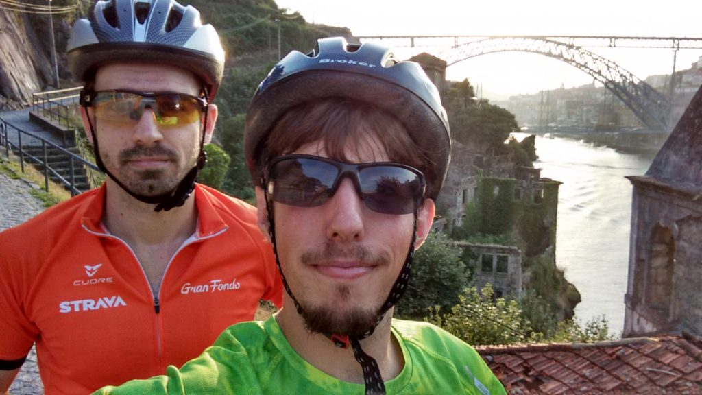 Me and my mate Cris after a long-ish bike ride along the seafront and riverside. Great time!